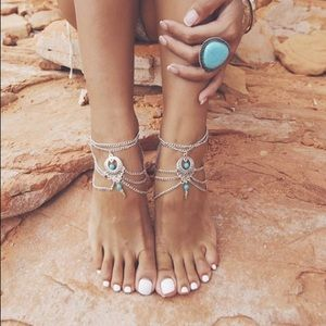Jewelry - NWOT Boho barefoot ankle foot chain